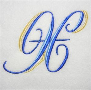 Blue and Gold Alphabet -26