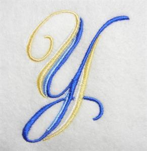 Blue and Gold Alphabet -27