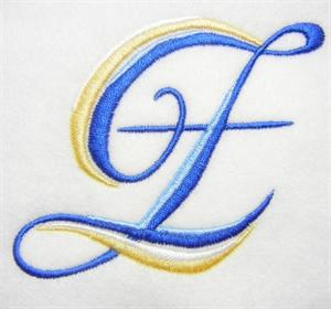 Blue and Gold Alphabet -28