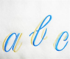 Blue and Gold Alphabet -29