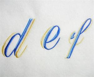 Blue and Gold Alphabet -30