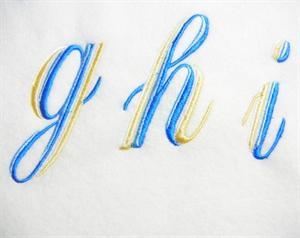 Blue and Gold Alphabet -31