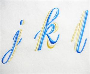 Blue and Gold Alphabet -32