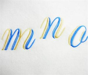 Blue and Gold Alphabet -33