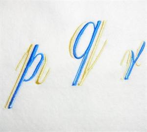 Blue and Gold Alphabet -34
