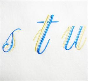 Blue and Gold Alphabet -35