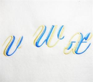 Blue and Gold Alphabet -36