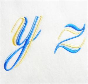 Blue and Gold Alphabet -37
