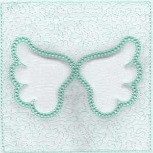 Angel Wings Trapunto Quilt Blocks -3