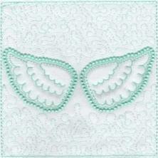 Angel Wings Trapunto Quilt Blocks -5