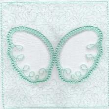 Angel Wings Trapunto Quilt Blocks -6