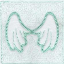 Angel Wings Trapunto Quilt Blocks -7