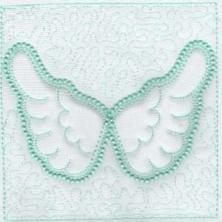 Angel Wings Trapunto Quilt Blocks -8