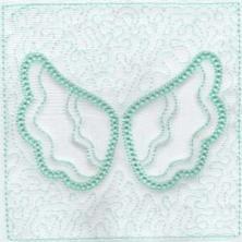 Angel Wings Trapunto Quilt Blocks -9