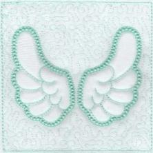 Angel Wings Trapunto Quilt Blocks -10