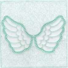 Angel Wings Trapunto Quilt Blocks -11