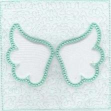 Angel Wings Trapunto Quilt Blocks -12