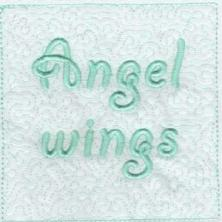 Angel Wings Trapunto Quilt Blocks -14