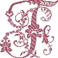 French Floral Cross Stitch Alphabet