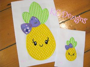 Pineapple With Bow Front