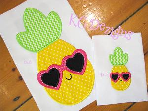 Pineapple With Heart Sunglasses
