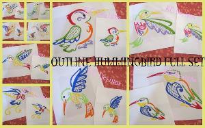 Outline Hummingbird Full Set