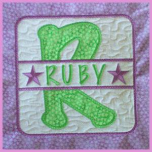 Applique Patch Alphabet