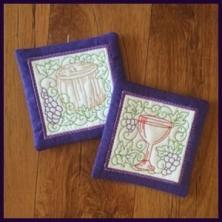 Wine Coasters - In-the-hoop