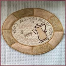 In the Hoop Coffee Placemat and Coasters
