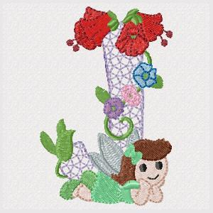 Fairy Floral Alphabet (Includes ITH Block)