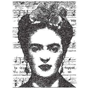 Frida Kahlo Monotone
