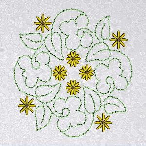 Floral Quilt Blocks 8x8