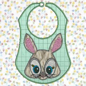 Applique Critter Bibs Large and Small