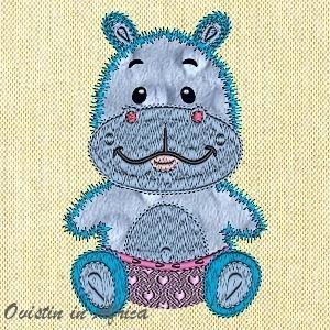 Applique Baby Hippo