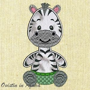 Applique Baby Zebra