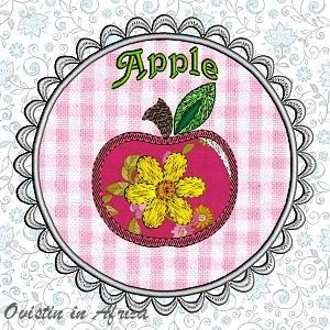 FSL Applique Apple Coaster