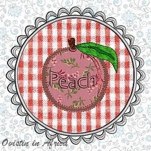 FSL Applique Peach Coasters
