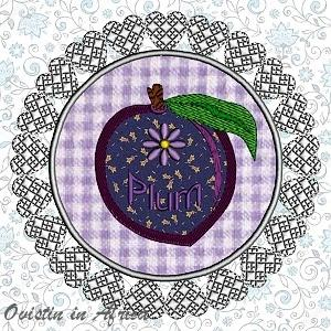 FSL Applique Plum Coasters