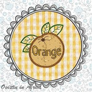 FSL Applique Orange Coasters