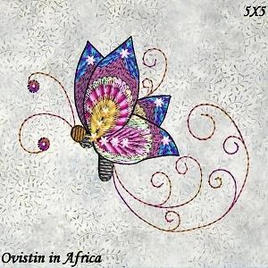 Twirly Butterflies 5x5