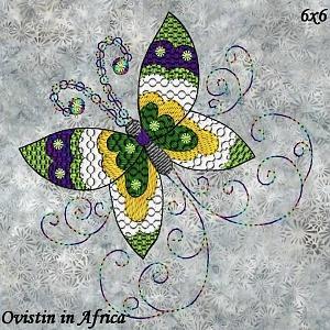Twirly Butterflies 6x6