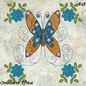 Twirly Butterflies Quilt Blocks