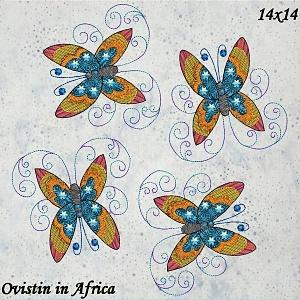 Twirly Butterfly Pillows