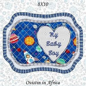 Baby Boy Nursery Place Mats 8x10