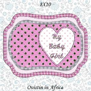 Baby Girl Nursery Place Mats 8x10