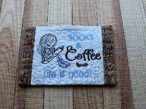 Book Mug Rug