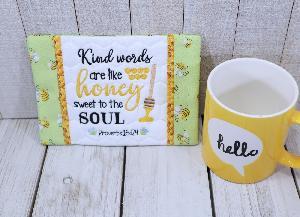 Kind Words Mug Rug