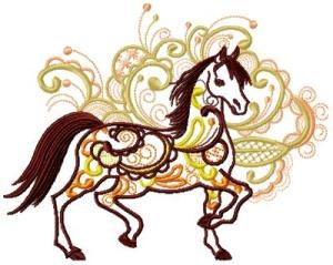 Arabic Ornamental Horses