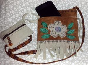 Leather Neck Purses