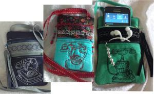 Double Compartment Cell Phone Pouches